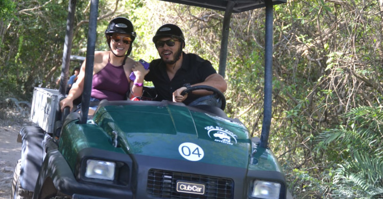 Side by Side ClubCar 4x4 off-road buggy Tour   ExcursionPass