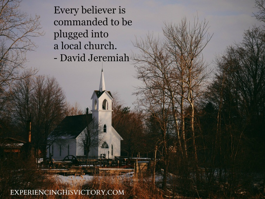 Every believer is commanded to be plugged into a local church. - David Jeremiah