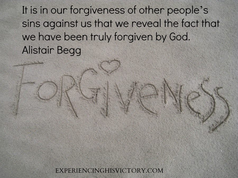 It is in our forgiveness of other people's sins against us that we reveal the fact that we have been truly forgiven by God. Alistair Begg