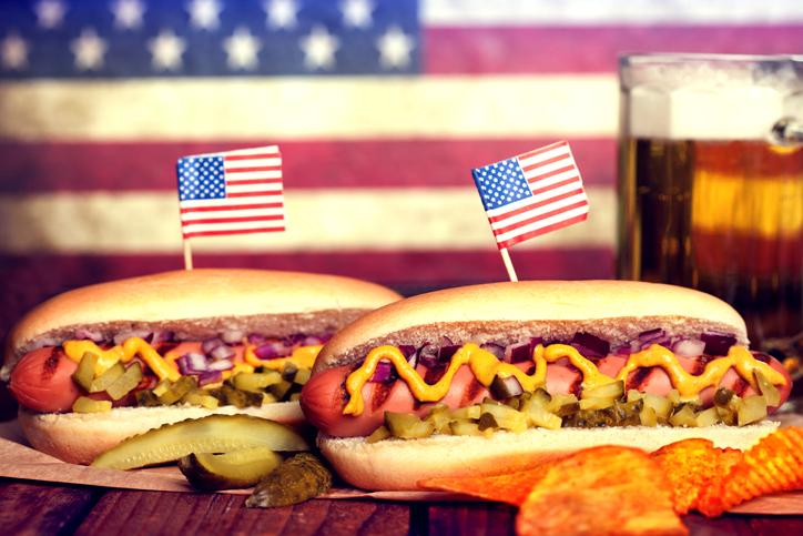 Comida do Dia da Independência dos Estados Unidos