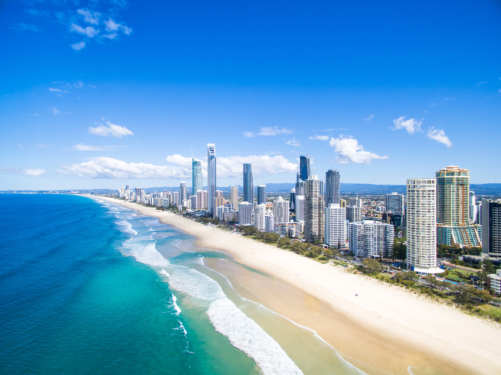 Brisbane e Gold Coast praia