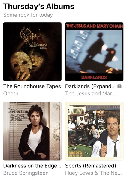 Apple Music suggestions