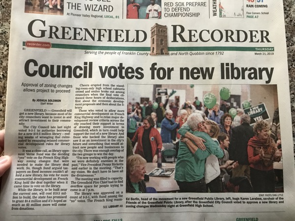Front page of the Recorder