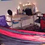 indoor hammock setup