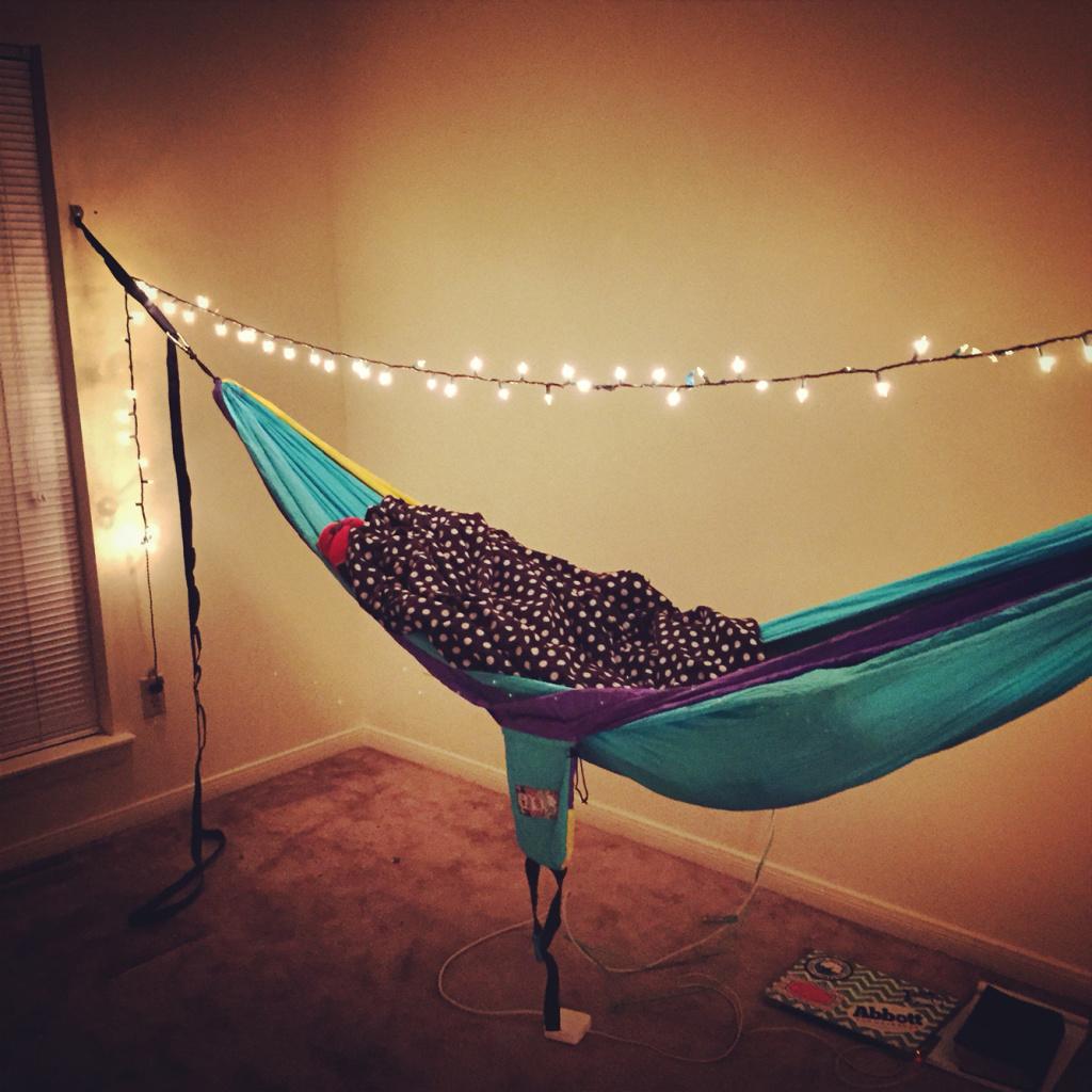 How to hammock indoors serac hammocks - How to hang hammock in room ...