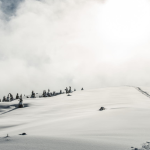 winter trekking and camping