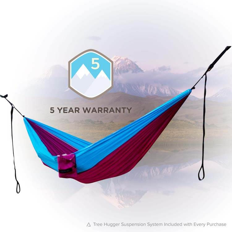 serac classic single nylon portable camping hammock wildflower color featuring the 5 year warranty