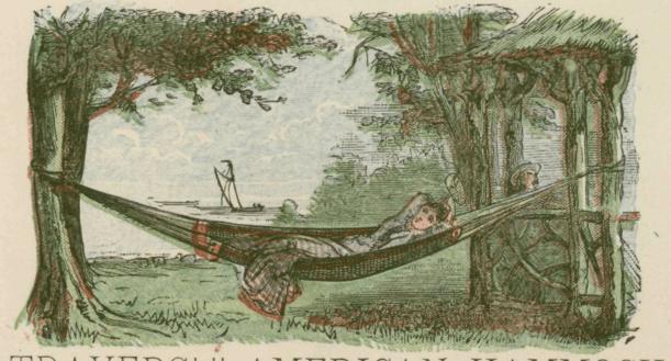 old school looking hammock camping