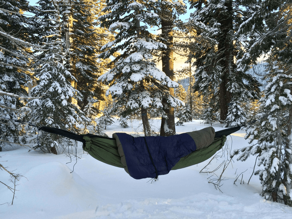 Camping Hammock with underquilt and topquilt