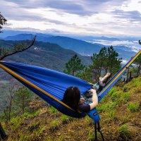 serac sequoia xl double camping hammock daybreak color