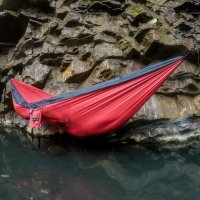 serac sequoia xl double camping hammock ember ash color