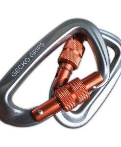 ultralight aluminum gecko grip screw lock carabiners for serac camping hammock