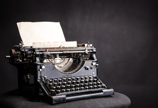 The first typewriters were introduced in the 1860s