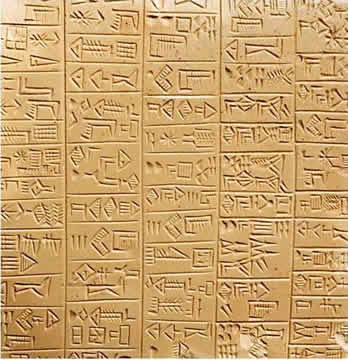 "Early ""books"" were made from clay tablets."