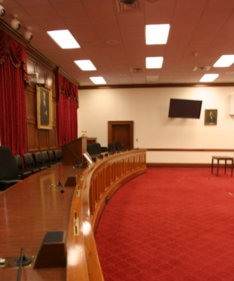 Committee rooms like the one pictured here are designed to allow the public and the media an opportunity to attend.