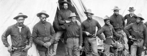 Buffalo Soldiers who participated in the Spanish-American War, circa 1898