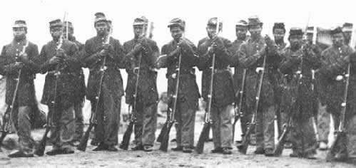 Early group of Buffalo Soldiers