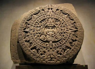 Ancient Aztec Sun Stone