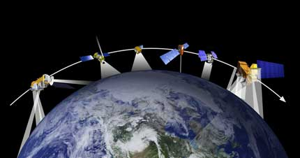 All these satellites, plus a lot more, are studying Earth and all the changes happening with the air, ocean, land, and ice.