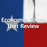 Texas History Economic Boom Unit Review