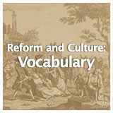 US History Life Before the Civil War Reform Movements: Vocabulary