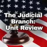 Civics The Judicial Branch: Justice and the Law The Judicial Branch: Unit Review
