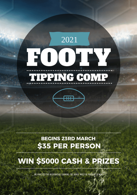 Football Tipping Competition Template with Stadium Background