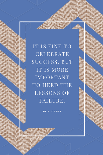 Heed the Lessons of Failure - Motivational Graphic Template