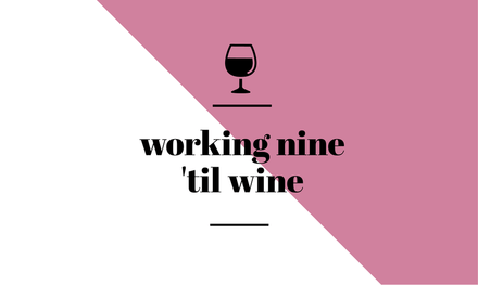 Working 9 'til wine simple Quote Graphic Template
