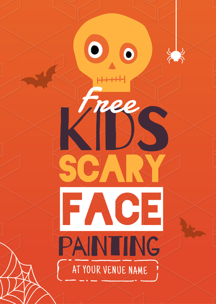 Kids Face painting Halloween Template