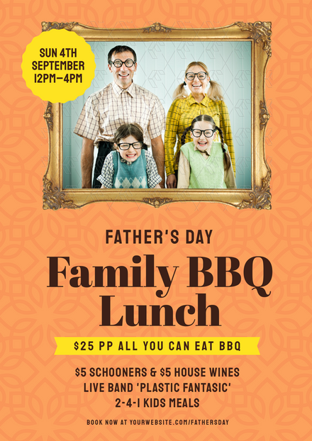 Father's Day - Family BBQ Lunch Template