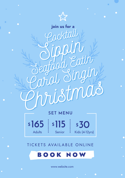 Typographical Xmas Tree Event Promotion Template