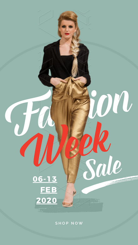 Fashion Week Sale Green & Red