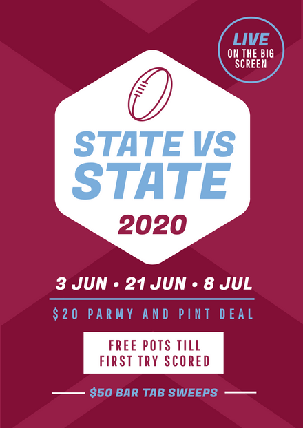 State of Origin Promotional Design Queensland Favour Color Scheme