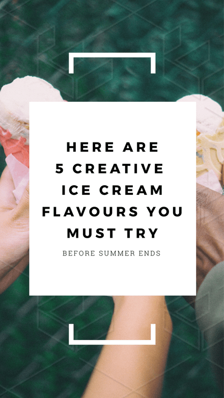 5 Creative Ice Cream Flavours Instagram Stories Template