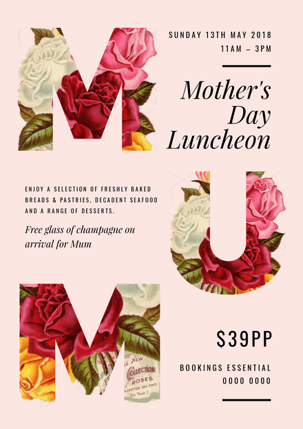 customizable mother s day poster templates easil easil