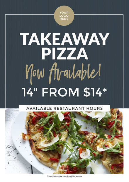 takeaway pizza promotional template