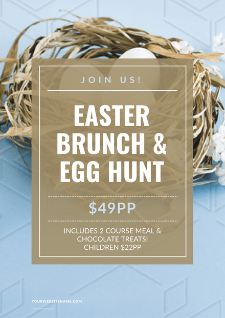 Easter Brunch and Egg Hunt Promotion Template