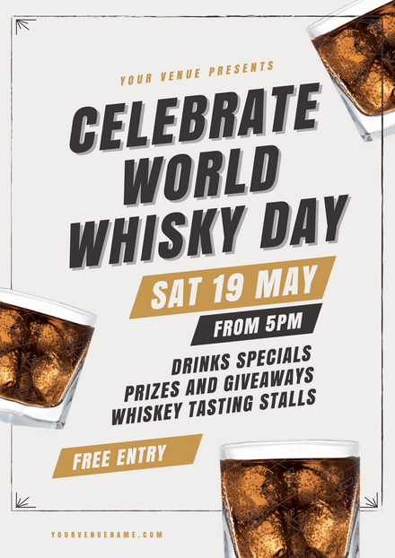 Celebrate World Whisky Day Template