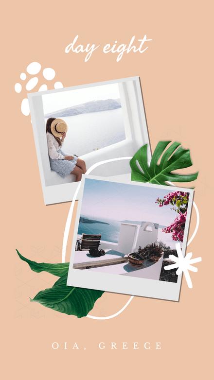 Collage: Polaroid Travel Blobs