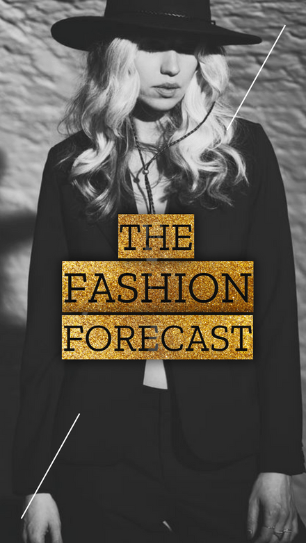 The Fashion Forecast - Glittery Gold Text Instagram Story Template