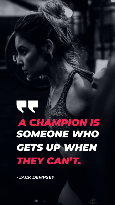 Feature Quote - Gym Motivational Template