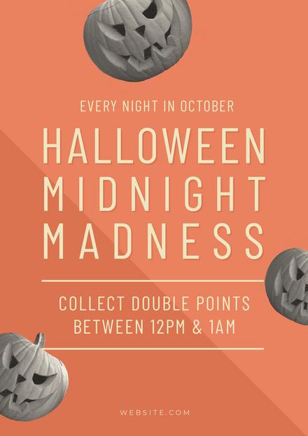 Halloween Midnight Madness Template