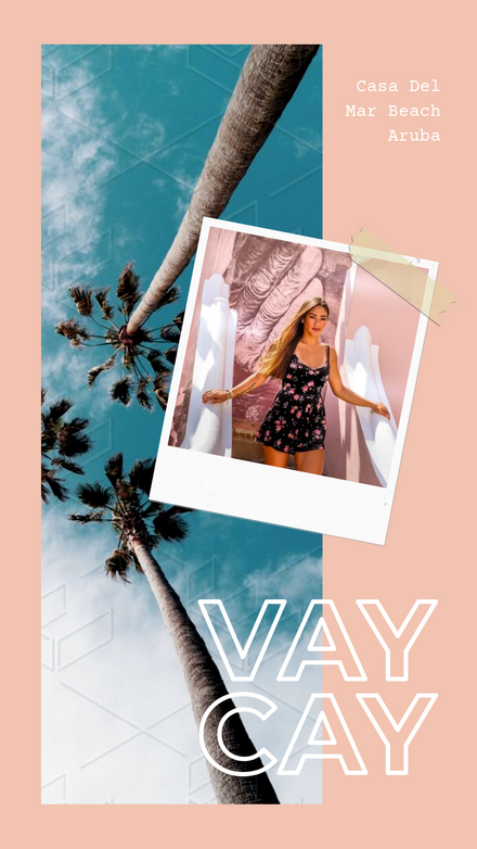 Vacation Polaroid Washi Image Overlay