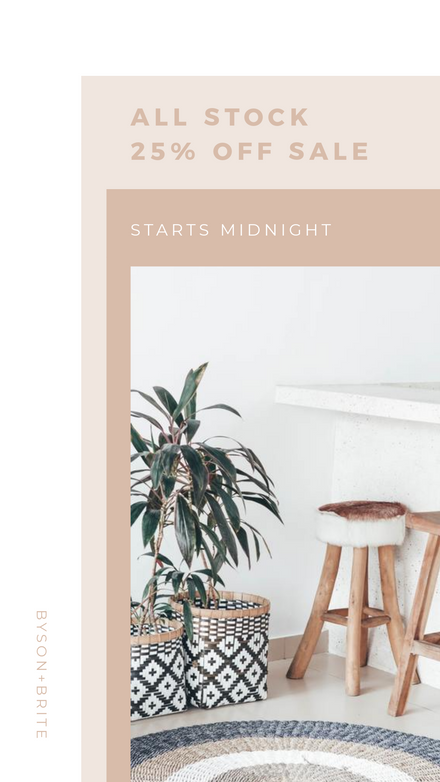 Stepped White & Pastel Sale Graphic Template