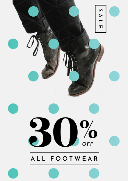 Sale DIscount Footwear with Spots Overlay Template