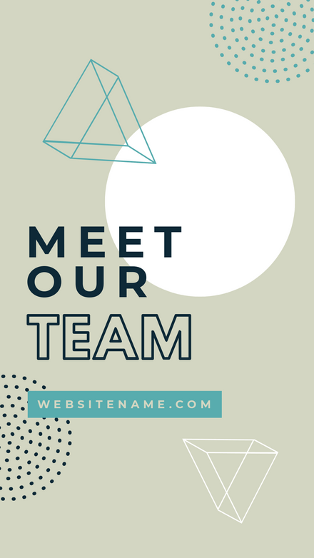 meet our team story template with geometric shapes easil