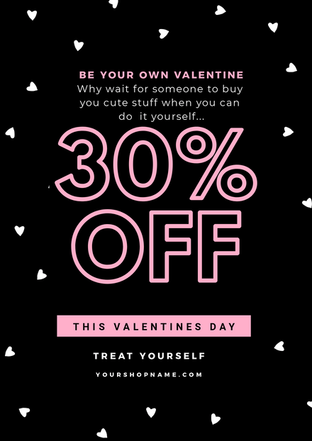 Valentines Day Black Sale Template