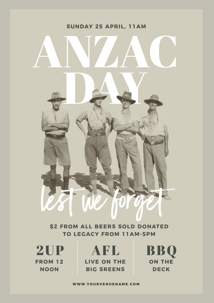 Anzac Day Vintage Image Template