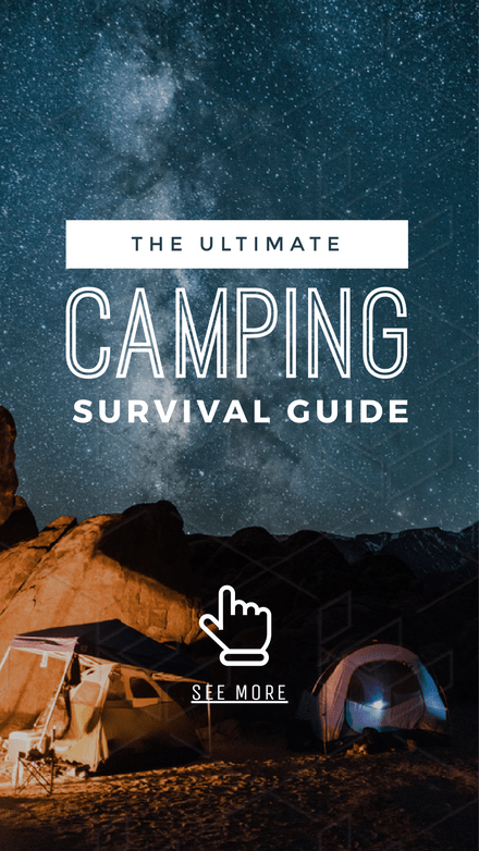 Camping Survival Guide Graphic Template